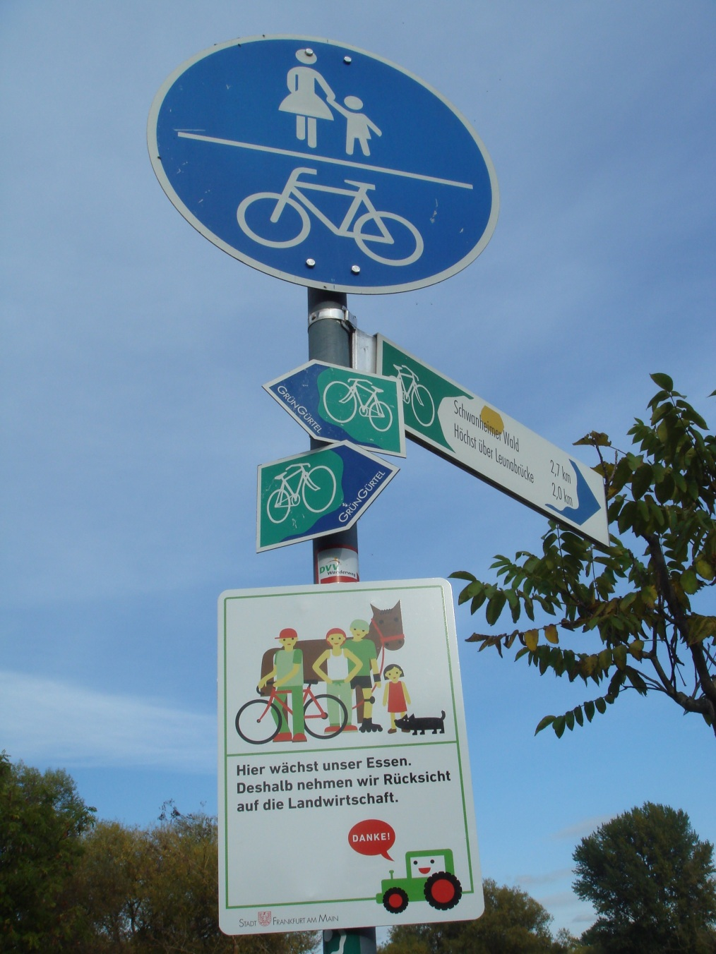 Bicycle direction signage