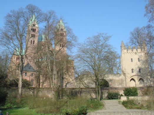 I don't have any of the race, so instead here's one of Speyer Cathedral from our first long bike tour of the year, to visit our friend E near Heidelberg.